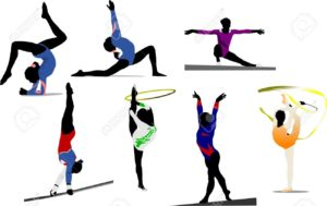 6198378-Woman-gymnastic-colored-silhouettes-Vector-illustration-Stock-Vector